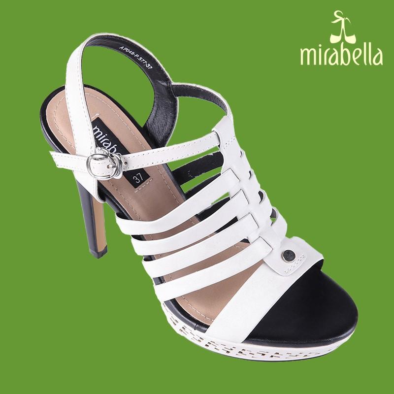 Giày xăng đan nữ cá tính 577 màu trắng kem 1