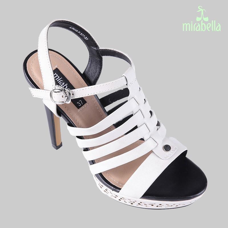 Giày xăng đan nữ cá tính 577 màu trắng kem 2
