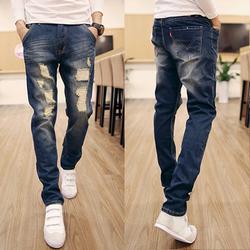 Quần Jeans nam rách đùi nhẹ nam tính