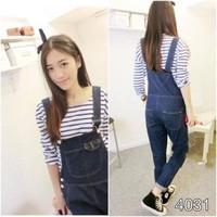 Quần yếm dài jeans phối 2 túi Korea cực sành điệu QY15