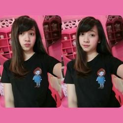 Áo thun nữ hình cô gái - XB275