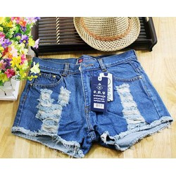Quần short jean nữ rách