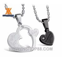 Mặt dây chuyền cặp trái tim mẫu mới đa dạng WinWinShop88