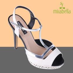 Giày cao gót thời trang đẹp 575 màu trắng