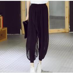 Quần legging nữ kiểu mới, thiết kế phối voan nổi bật, mẫu Hàn Quốc.