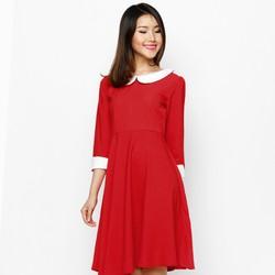 Đầm Xòe Vintage Dài Tay Cổ Sen - D03615115