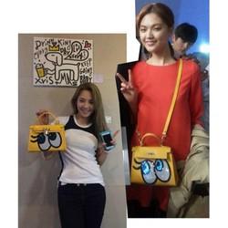 Túi đeo chéo Shy Girl nữ họa tiết SpongeBob đính hạt lấp lánh-T228