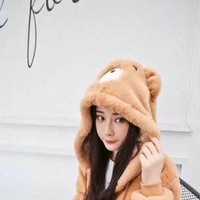 Áo khoác lông hình chú gấu cho mùa đông dễ thương và ấm áp AKMT90
