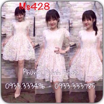 Đầm ren trắng mã số 428