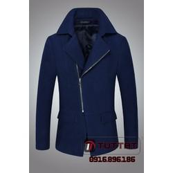Áo măng tô thời trang cao cấp TUTTAT 99018-19 Xanh tím than