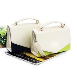 Túi xách dạng hộp phối màu thời trang