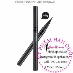 Kẻ mắt bút lông Ink Graffi Brush Pen Eyeliner - Màu Đen