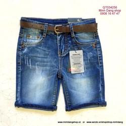 Quần short jean thun wax