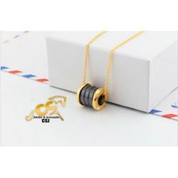 Dây chuyền titan BVL đen sang trọng màu vàng tươi - Trang sức inox