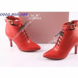 Giày bốt nữ cao gót sành điệu - Mã MM90073