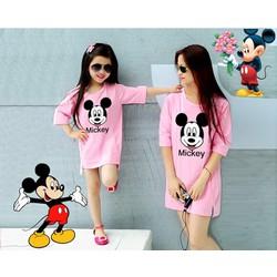 Sale off-Combo áo thun mẹ và bé Mickey trẻ trung TH08444