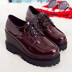BM242DO - Giày Bánh Mì Nữ dây cột cá tính