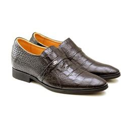 Giày tăng chiều cao nam 6.5 cm da thật TT05 CS đen