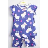 Bộ quần áo cho bé gái họa tiết cừu - YY19
