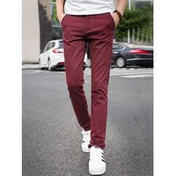 Quần kaki nam màu đỏ đất phong cách trẻ trung, cá tính