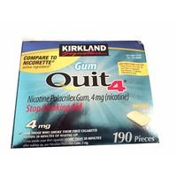 Kẹo cai thuốc lá Kirkland Gum Quit 4 , hộp 190 viên.
