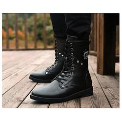 Giày nam combat boot mũi neo