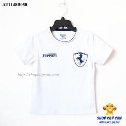 Áo thun chữ Ferrari màu trắng size đại 8-16