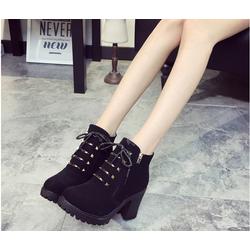 Boots nữ cổ ngắn thời trang, màu sắc sang trọng, mẫu châu Âu mới