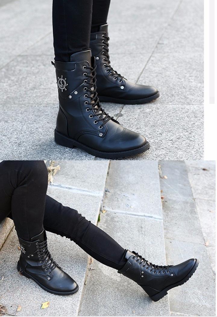 Giày nam combat boot mũi neo 3