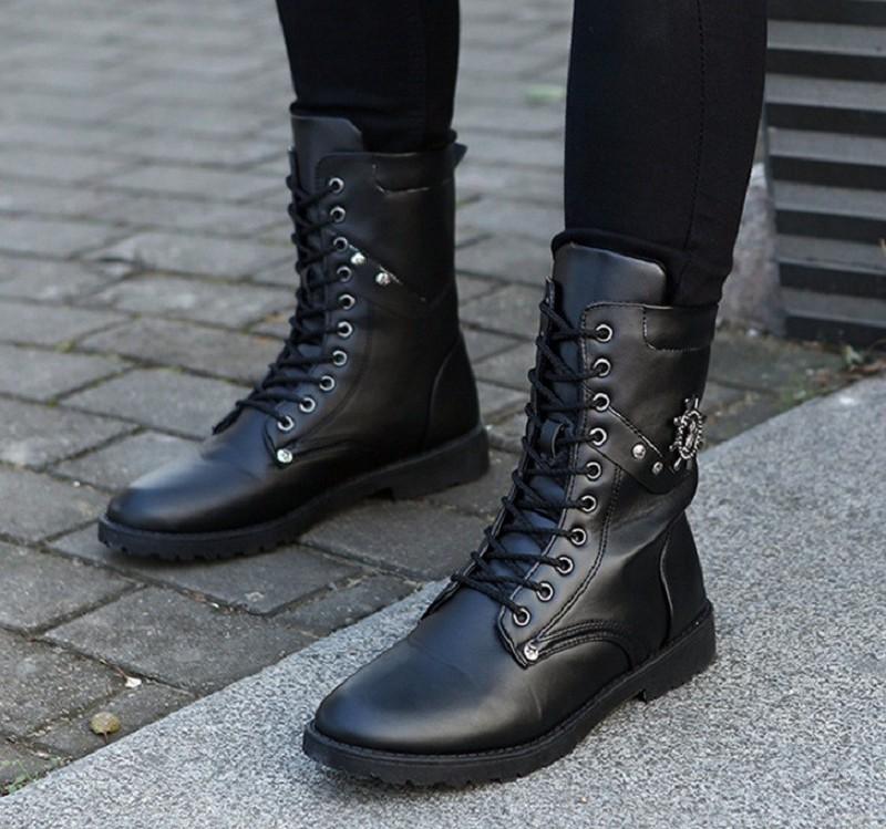 Giày nam combat boot mũi neo 4