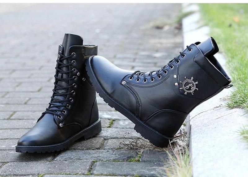 Giày nam combat boot mũi neo 5