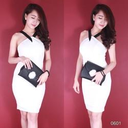 Đầm body cổ yếm Susu Shop