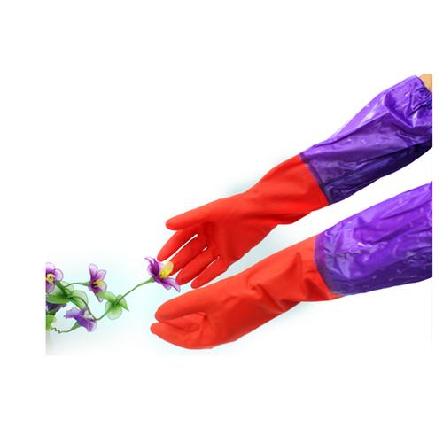 Com bô 2 đôi Găng tay cao su lót nỉ