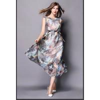 Đầm maxi hoạ tiết