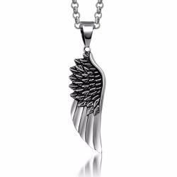 Dây chuyền  cánh thiên thần Ti-tan không đen