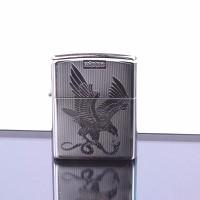 Bật lửa zippo cao cấp đại bàng cắp mồi màu trắng - www.Caganu.com