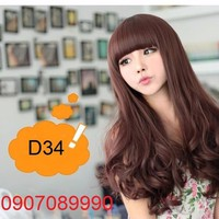 Tóc nữ Hàn Quốc uốn đuôi mái ngố -- D34