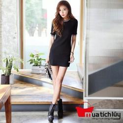 Đầm ôm body viền sọc