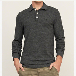 Áo Thun Nam Abercrombie and Fitch Iconic Long Sleeve Polo