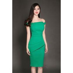 Đầm Đẹp Thiết Kế Xếp Ly Sang Trọng - D2651