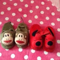 Dép thú cho bé hình chú khỉ và chú cún siêu dễ thương DTn66