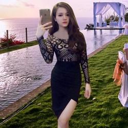 Đầm dự tiệc  Ren Hoa Văn Luxury Sang trọng - HTP779 - GS2051