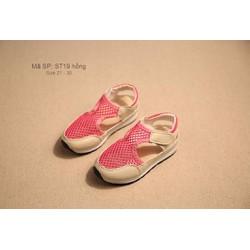 Xăng đan lưới bé gái 1 - 5 tuổi kiểu dáng cá tính ST19 hồng