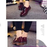 Giày oxford da thu đông mẫu mới phong cách năng động GUBB156