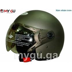 Mũ bảo hiểm cao cấp Canary TP77K - Xám nhám trơn