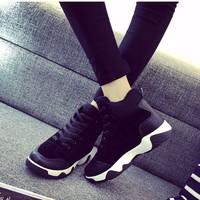 Giày thể thao đế cao  nhung GDNAGTTDE169TQ