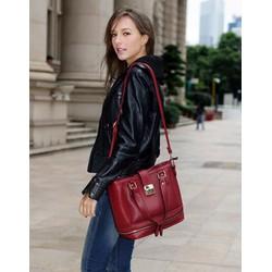 Túi đeo chéo nữ, phối khóa sành điệu, cá tính, thời trang