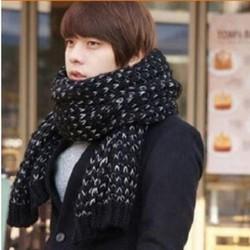 khăn choàng len nam, khăn quàng cổ nam chiếc khăn Mohair dệt kim Hàn