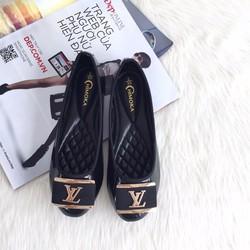C035- Giày bệt Chimoka họa tiết LV