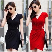Đầm thun body khóa eo korea